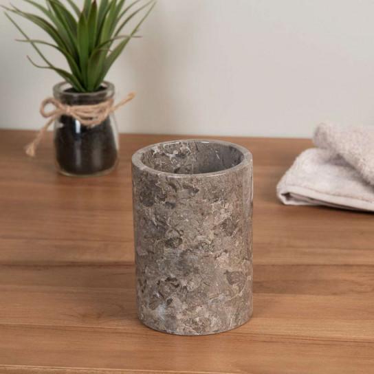 Vaso de mármol gris