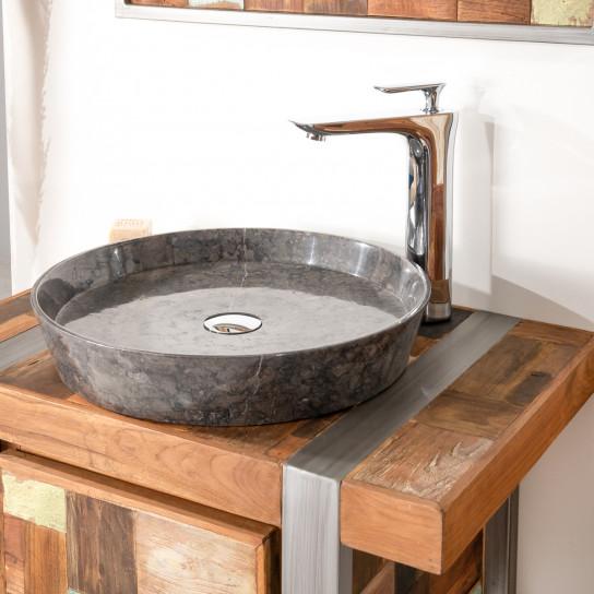 vasque à poser en marbre pour salle de bain Malo 45 noire