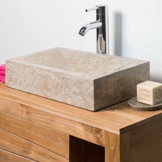 vasque salle de bain poser alexandrie rectangle 30cm x. Black Bedroom Furniture Sets. Home Design Ideas