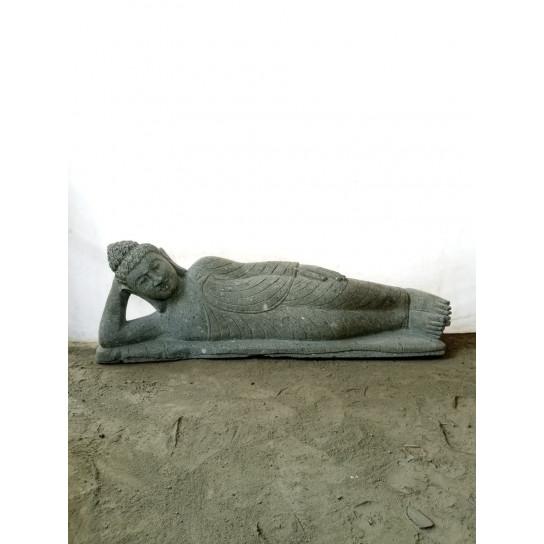 Zen natural stone reclining Buddha statue 1 m