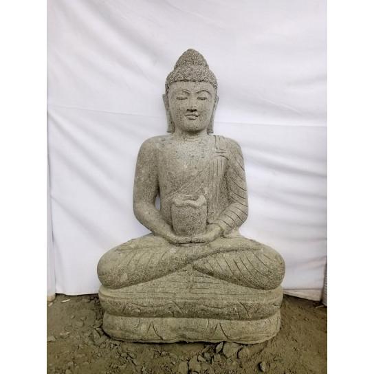 Zen seated Buddha outdoor garden statue bowl 100 cm