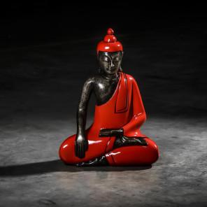 Bouddha assis méditation petit modèle Rouge 45 cm