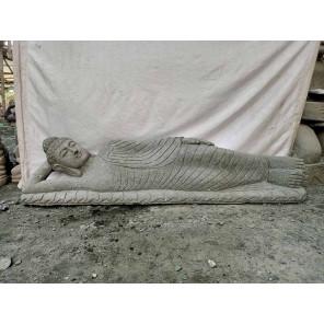 Buda tumbado de piedra volcánica jardín zen 2 m