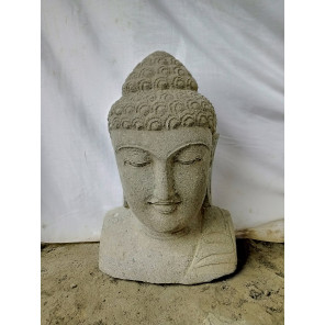 Buddha decorative volcanic rock garden bust statue 40 cm