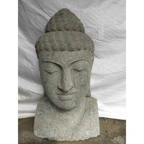 Busto de Buda de piedra de jardín zen 70 cm
