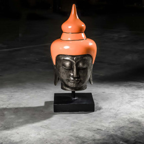 Cabeza de Buda modelo grande naranja 73 cm