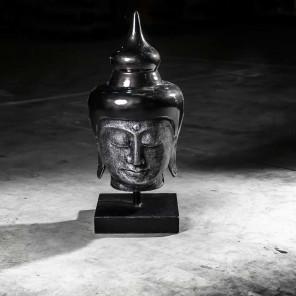 Cabeza de Buda modelo grande negro 73 cm