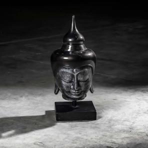 Cabeza de Buda modelo mediano negro 58 cm