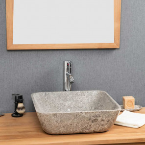 Carmen square grey countertop bathroom sink 40 cm