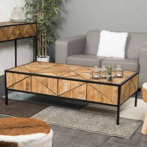 Castle teak coffee table 130