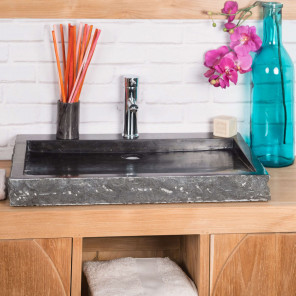 Cosy black sink 70 cm