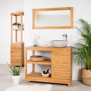 Courchevel teak bathroom vanity unit 100