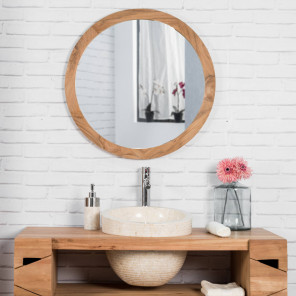 Eden round cream sink