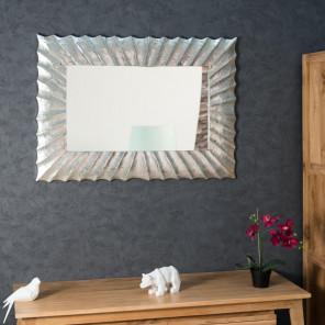 Espejo Alicante de madera con pátina plateada 70 x 100