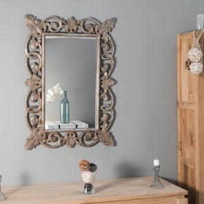Espejo Córdoba de madera con pátina bronce 100 x 70