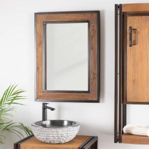 Espejos : espejos de cuarto de baño en madera de teca maciza