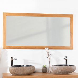 Espejo rectangular de teca maciza 140 x 70