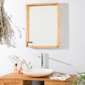 Espejo teca de cuarto de baño SAMBA 50 X 65 cm