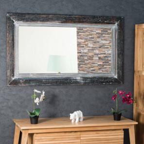 Espejo Venecia de madera con pátina lacada 140 x 80 cm
