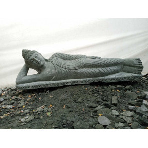 Estatua Buda tumbado de piedra natural 1,20 m