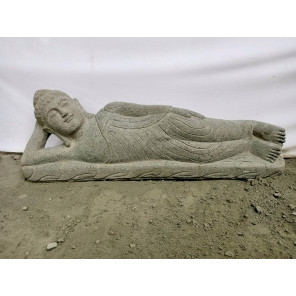 Estatua Buda tumbado de piedra natural 1m