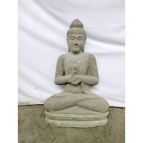 Estatua de Buda de piedra natural en posición Chakra 80 cm