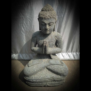 Estatua de Buda sentado de piedra posición de rezo 50 cm