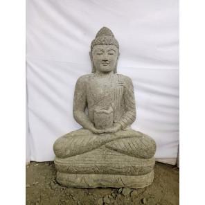 Estatua de Buda sentado Posicion ofrenda bol 100cm