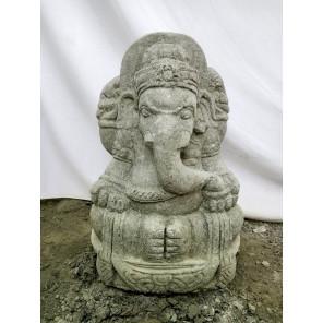 Estatua de exterior de piedra volcánica Ganesh 50 cm