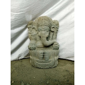 Estatua de Ganesh de piedra volcánica 50 cm