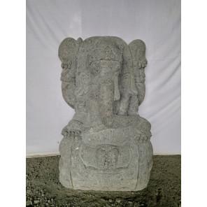 Estatua de Ganesh de piedra volcánica jardín zen 80 cm