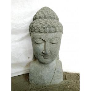 Estatua de jardín busto de Buda de piedra natural 70 cm