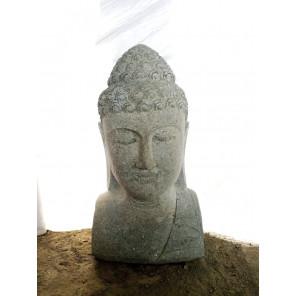 estatua de jardín busto de Buda decoración zen 70 cm