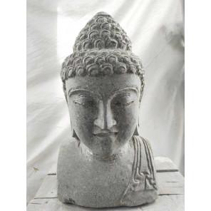Estatua de jardín de Buda exterior zen busto 40 cm