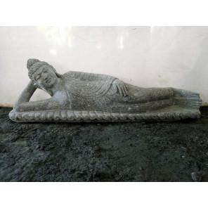 Estatua de jardín de Buda tumbado de piedra natural 1,20 m