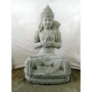 Estatua de jardín diosa Dewi Sri de piedra volcánica 100 cm