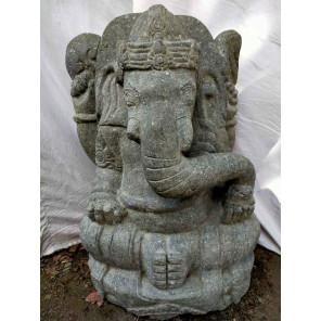 Estatua de jardín Ganesh de piedra 80 cm