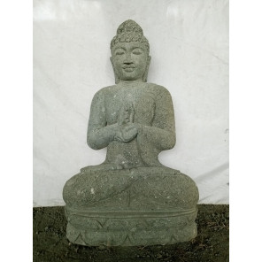 Estatua de jardín zen Buda piedra chakra 1 m