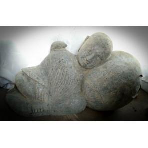 Estatua de monje shaolín piedra natural jardín zen 1 m
