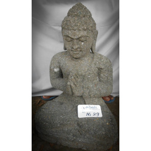 Estatua de piedra de Buda sentado posición rezo 50 cm