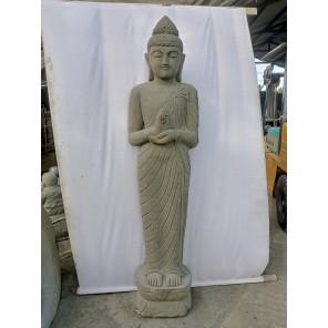 Estatua de piedra de diosa balinesa de pie en posición chakra 2 m