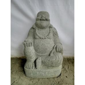 Estatua de piedra de lava BUDA FELIZ 60 cm