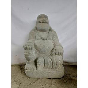 Estatua de piedra de lava HAPPY BOUDDHA 60 cm