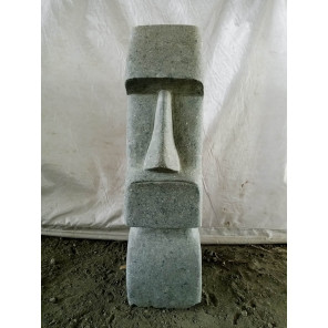 Estatua de piedra natural Moái jardín zen 60 cm