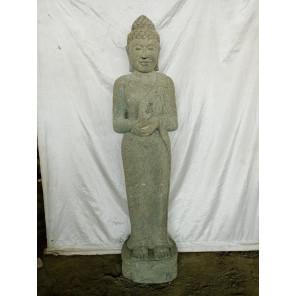 Estatua de piedra volcánica Buda de pie chakra 150cm