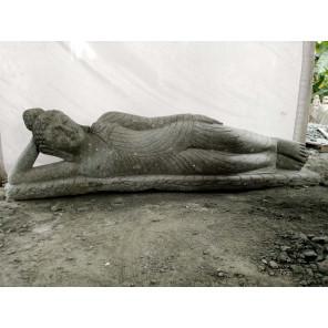 Estatua de piedra volcánica Buda tumbado de jardín 2 m