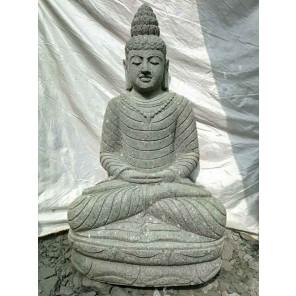 Estatua de piedra volcánica collar decoración zen de jardín 1,20 m
