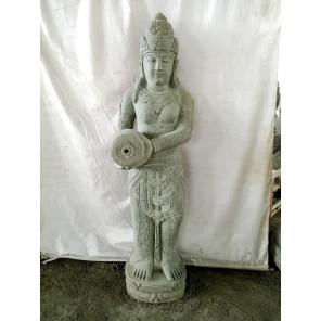 Estatua de piedra volcánica fuente diosa balinesa 1,50 m