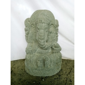 Estatua de piedra volcánica Ganesh de jardín 50 cm