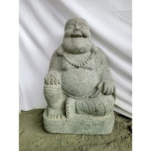 Estatua de piedra volcánica HAPPY BOUDDHA 1M